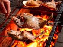 ※焼き魚は炭火焼で調理しています。ホクホクで絶品です。