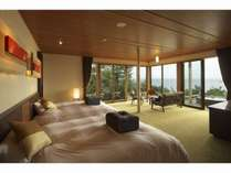 VILLA瑞鶴荘の【月汐】開放感抜群のお部屋で非日常をお楽しみください。
