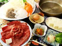 【すき焼きプラン】全ての食材にこだわりおもてなしいたします。