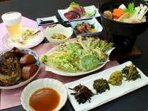 旬の食材を使用した会席一例