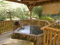 ★【げんこつ風呂】硫酸塩泉の美肌湯を100%掛け流し♪ 日本庭園に面した開放的な露天。