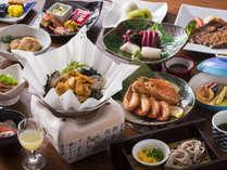 【お部屋食 津軽海峡膳】道南と青森の郷土料理にヒントを得て作られたお膳です。