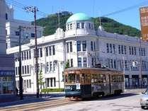 市電でラクラク移動!市内観光をお楽しみください。