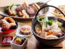 【ザ・キャビン春】夕食。道南食材を普段に使用しております。