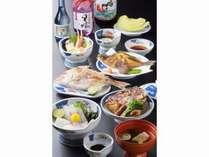 夕食は鳴門鯛を中心とした鯛尽くし会席料理になります。