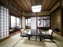 老舗の落ち着きとくつろぎをかんじさせてくれる和室一例