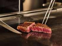【夕食】鉄板焼きディナー/ライブ感溢れるシェフの手さばきをお愉しみください※イメージ
