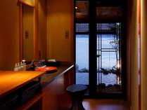 【望厳の湯】貸切露天風呂の更衣室
