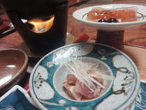 紀州の食材を使った自慢の田舎風会席料理です