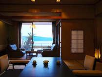 ■露天風呂付客室:東館Bタイプ■ 広々とした和空間と爽やかな潮騒にココロ癒されるひとときを♪