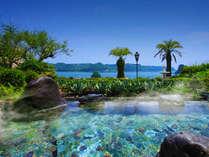 ■大浴場露天風呂■ まるで常夏リゾート!サファイアブルーに包まれる露天タイム♪