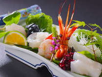 ■お造り盛り合わせ■海老・イカ・ほたて…お魚以外のお造りも多数ご用意しております♪