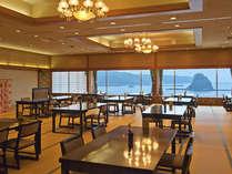 ■ご宴会場:黒船の間■ ゆったりとさざめく海を眺めてのお食事は格別です♪
