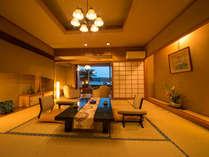 ■東館:露天風呂付き客室B■3人でも悠々入れる『岩露天風呂』と『檜内風呂』両方で湯ったりと♪~