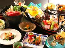 『金目鯛』『伊勢海老』『サザエ』料理に和牛鍋(すき焼)など♪~時代の流れを料理で表現~