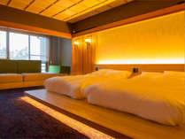 ■離れ客室 洞■木の洞で羽を休める小鳥のように、ふかふかのベッドと癒しの空間でひと休み