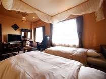 【別館】バリ風洋室 同じ建物内のエステ・岩盤浴「スパ・チャンティック」のご利用にも便利なお部屋。