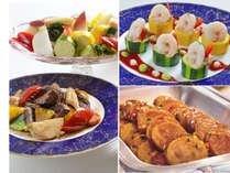 地元野菜を中心とした料理を季節に合ったバリエーションで・・・