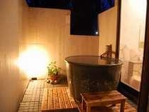 夜の露天風呂(本館1・3号室)