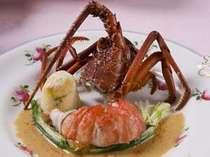 ある日の特選ディナーの伊勢海老料理。