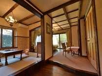別館アンティーク7号室 和洋室(2~4名)露天風呂にドッグランとペット用バス付