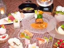 アミュース゛・オート゛フ゛ル・魚料理・肉料理・お刺身・ご飯・お味噌汁・テ゛サ゛ート