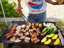 ■オプションBBQ面倒な準備や片付けは全てお任せ!【お肉セット】テーブルセット・基本備品が標準セット。