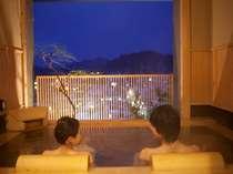 【貸切風呂 東錦】カップルで一緒に高山の夜景を眺めながらの入浴は格別です♪