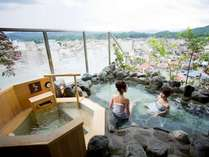 【大浴場:露天風呂】最上階の露天風呂は絶景☆夜は星空ご覧頂けます!