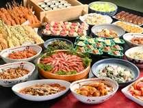 【夕食バイキング】刺身や煮物、揚げ物など和食を中心としたバイキング