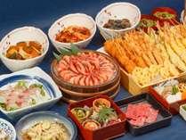 【夕食バイキング】お刺身や天ぷらなど種類豊富にご用意(イメージ)