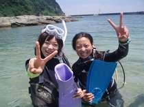 夏は海・綺麗な日本海ダイビングもできる隠れ宿 カシマカンコー