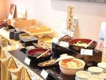 自慢の和洋折衷朝食バイキング(和食)人気は何と言っても長浜名物「焼鯖素麺」
