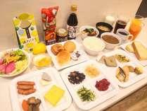 無料朝食バイキング(ご利用時間/6:00~10:00)