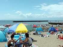 ビーチ徒歩0分!宿から水着のまま砂浜へ!チェックアウト後も海水浴満喫オプション有