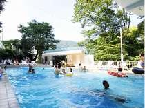 大人も楽しめる本格的な野外プール【夏季営業】
