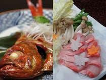 金目鯛をメインとした宿泊プラン「煮付け」「しゃぶしゃぶ」から選択