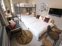 ルーム1寝室ベッド・二段ベッド