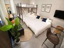 ルーム2寝室ベッド・二段ベッド