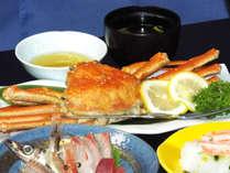【本ズワイガニ】まるまる一杯付!ご飯はカニの「押し寿司」を堪能♪
