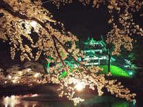 【夜桜プラン/送迎付】春の夜桜を楽しむ♪眺望が自慢のホテルで、温泉と日本海の海の幸を楽しむ〔2食付〕