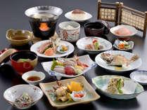 *【ハマナス会席(一例)】海鮮を中心とした、ワンランク上の会席料理。新潟の四季をご賞味ください。
