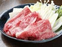 飛騨牛をあったか鍋「すき焼き」で♪(一例)