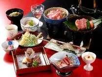 飛騨牛ステーキと蒸ししゃぶで大満足♪(夕食一例)