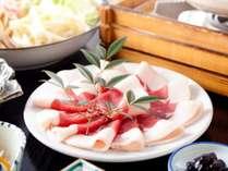 大峰猪のぼたん鍋味噌仕立て。地元漁師さんより仕入れるブランド肉です