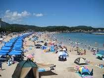 千鳥ヶ浜~夏には海水浴のお客様で賑わいます~