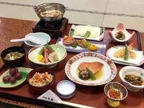 秋得プラン夕食・八戸せんべい汁・旬の魚料理付