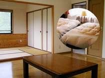 [写真]ゆっくりくつろげる広々とした和洋室(5人部屋)