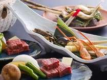 ■【夕食】当館のスタンダード料理コース「飛騨四季膳」※一例