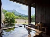 ■石竹■由布岳を望みながら、お好きな時間にお好きなだけ温泉をお愉しみいただけます。
